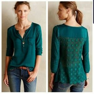 ANTHROPOLOGY Knitted & Knotted Verso Henley Top